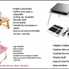 Adjustable bed Table for latop and tablet