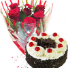 Roses & Chocolate Cake Flower Delivery In Qatar