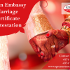 how to get Indian embassy marriage certificate attestation in Qatar?