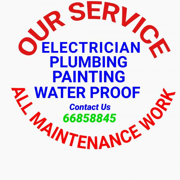 Electric Plumbing Painting All Maintenance Work